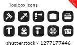toolbox icon set. 10 filled... | Shutterstock .eps vector #1277177446