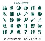 pair icon set. 30 filled pair... | Shutterstock .eps vector #1277177503