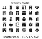 shorts icon set. 30 filled...   Shutterstock .eps vector #1277177560