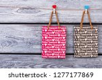black and pink shopping bags... | Shutterstock . vector #1277177869