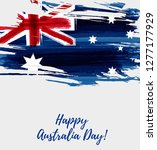happy australia day. holiday... | Shutterstock .eps vector #1277177929