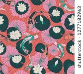 seamless vector pattern with... | Shutterstock .eps vector #1277182963