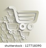 shopping cart icon  shopping... | Shutterstock .eps vector #127718390