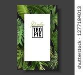 vector banner with green... | Shutterstock .eps vector #1277184013