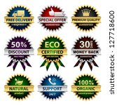 collection of badges   for... | Shutterstock .eps vector #127718600