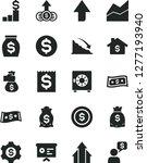 solid black vector icon set  ... | Shutterstock .eps vector #1277193940