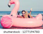 summer lifestyle portrait of... | Shutterstock . vector #1277194783