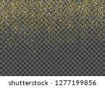 gold confetti background.... | Shutterstock .eps vector #1277199856