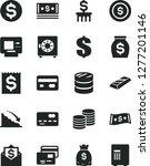 solid black vector icon set  ... | Shutterstock .eps vector #1277201146