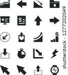 solid black vector icon set  ... | Shutterstock .eps vector #1277202049