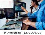 programmer working in a... | Shutterstock . vector #1277204773