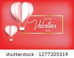 valentine's day concept  heart... | Shutterstock .eps vector #1277205319