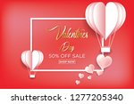 valentine's day concept  heart...   Shutterstock .eps vector #1277205340