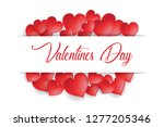 valentine's day concept  heart... | Shutterstock .eps vector #1277205346