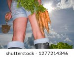 detail of woman in vegetable... | Shutterstock . vector #1277214346