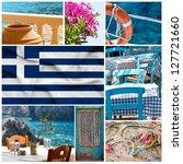Greece collage - stock photo
