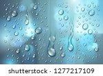 water rain drops or... | Shutterstock .eps vector #1277217109