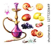 Colorful Hookah With Fruits Se...