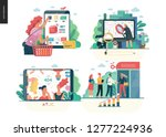 business series set  color 1 ... | Shutterstock .eps vector #1277224936