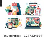 business series set  color 1 ... | Shutterstock .eps vector #1277224939