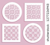 templates for laser cutting ...   Shutterstock .eps vector #1277226943