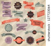 retro label collection | Shutterstock .eps vector #127723064