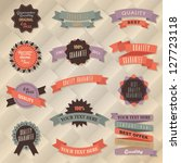 retro label collection | Shutterstock .eps vector #127723118