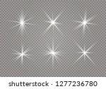 white glowing light explodes on ... | Shutterstock .eps vector #1277236780