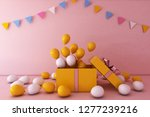 colorful bunch of birthday... | Shutterstock . vector #1277239216