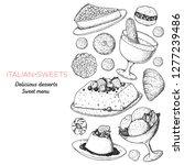 italian dessert vector...   Shutterstock .eps vector #1277239486
