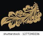 floral ornamental design    Shutterstock .eps vector #1277240236