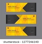 polygonal banner design...   Shutterstock .eps vector #1277246140