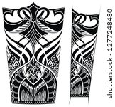 pattern elements for tattoo  | Shutterstock .eps vector #1277248480