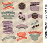 retro label collection | Shutterstock .eps vector #127725548