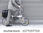 close up of businessman cycling ... | Shutterstock . vector #1277257723