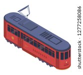classic tram car icon.... | Shutterstock .eps vector #1277258086