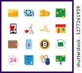 16 payment icon. vector... | Shutterstock .eps vector #1277261959