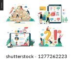 business series set modern flat ... | Shutterstock .eps vector #1277262223