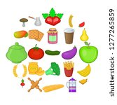 vegetable diet icons set....   Shutterstock .eps vector #1277265859