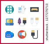 9 portable icon. vector... | Shutterstock .eps vector #1277270713