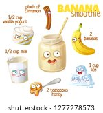 smoothie recipe illustration... | Shutterstock .eps vector #1277278573