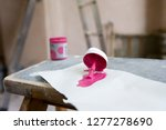 detail of paint color sample on ... | Shutterstock . vector #1277278690