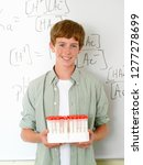 high school student with test... | Shutterstock . vector #1277278699