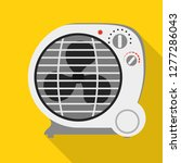 round fan heater icon. flat... | Shutterstock .eps vector #1277286043