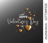 happy valentines day design...   Shutterstock .eps vector #1277289520
