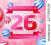 realistic twenty six years... | Shutterstock . vector #1277295139