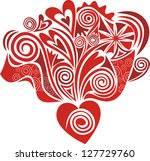 heart love illustration | Shutterstock . vector #127729760