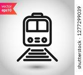 train icon. subway line icon.... | Shutterstock .eps vector #1277299039