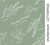 greenery illustrations pattern | Shutterstock . vector #1277304526