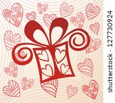 present pattern background... | Shutterstock . vector #127730924